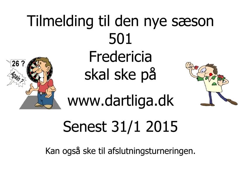Fredericia 501 tilmelding 2015